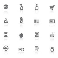 Icon Set supermarket N6