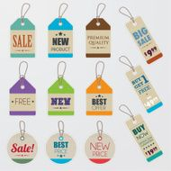 Promotion paper price tags