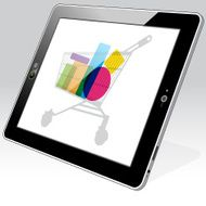 Tablet Computer Shopping retail online