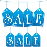 sale label tags blue