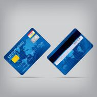 popular blue premium extended business credit card isolated vect N3