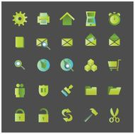 Green Icons - vector