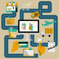 Concept of online shop and e-commerce N2
