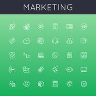 Vector Marketing Line Icons