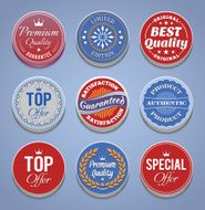 Product promotion buttons and badges