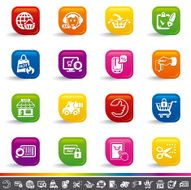 Online shopping icons N26