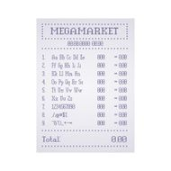 Check out the supermarket template Vector illustration