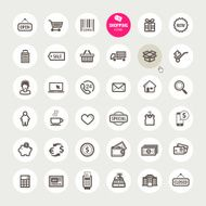 Set of shopping icons N26