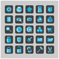 Blue Icons - vector
