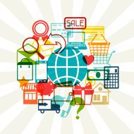 Internet shopping concept background N2