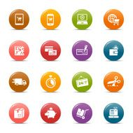 Colored dots - Shopping icons N2
