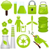 Vector Icons Environmental Friendly Green Ecology