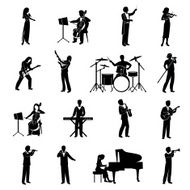 Musicians Icons Black