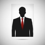Profile picture whith red tie Unknown person silhouette