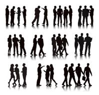 Vector of Business People in a Row N2
