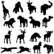 African animals silhouette collection N4