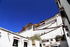 Potala Palace on the background of blue sky