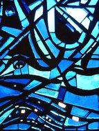 stained glass window blue