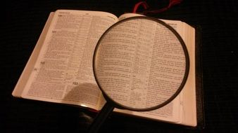 magnifying glass magnified