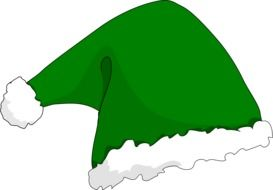 green santa hat for christmas