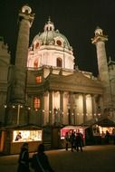 Karlskirche is a Catholic church located in the southern part of Karlsplatz in Vienna