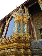 thai palace in gold tones