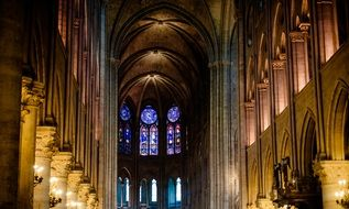 beautiful interior of Notre Dame de Paris