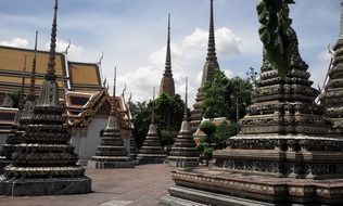 Architecture of a Buddhist temple in Thailand