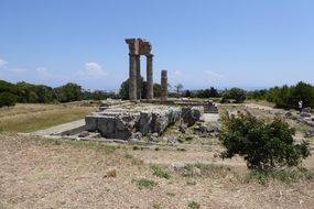 ruins of the temple of apollo in rhodes
