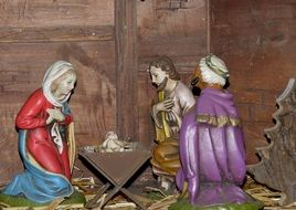 christmas ceramic figures