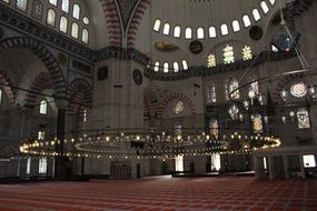 Suleymaniye Mosque - the second most important and first in size of Istanbul mosque