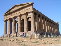 ancient Greek temple in Sicily