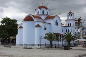 christian church with white walls