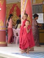 young buddhist monks in burma