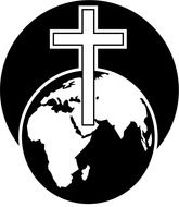 white cross on planet earth