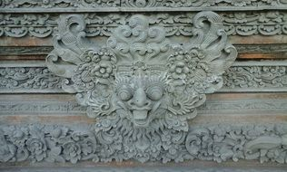 carving on the temple wall