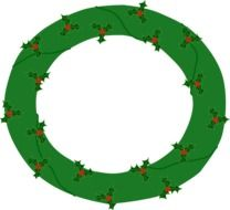 painted green christmas wreath