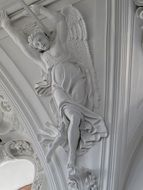 Angel relief in church