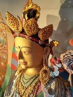 gold statue in the buddhist temple