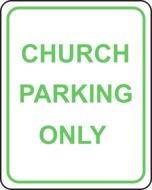 church parking only sign drawing