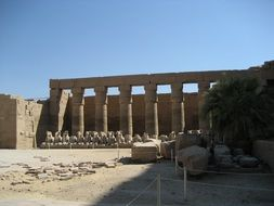 columns of ancient temple, egypt, luxor