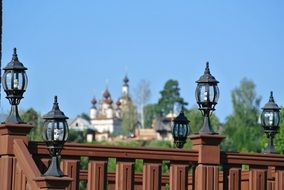 lamps on the bridge near the Church