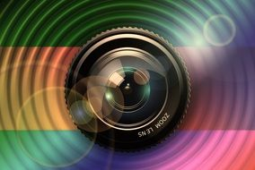 clipart of the camera lens