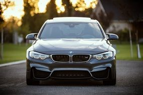 bmw car front sports tuned