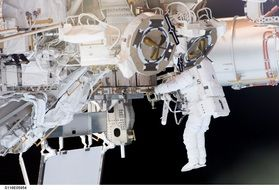 astronaut spacewalk space shuttle