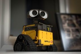 yellow walle robot figure toy