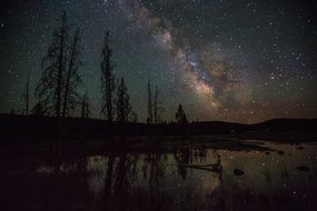 firehole lake milky way