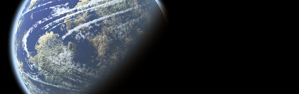 earth globe banner header planet