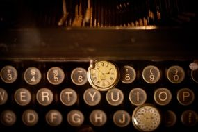 letters keys typewriter retro