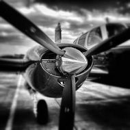 propeller airplane aircraft